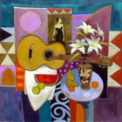 Serenade, Madame X 36 x 36 inches Oil on canvas
