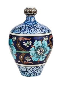 Burmantofts Persian pottery gourd vase designed by Leonard King, c1885, British. James Miles