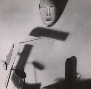 Eileen Gray, Still Life with Kpan Mask, 1920s Vintage silver gelatin print 11.2 × 11.3 cm (43 /8 × 41 /2 in)