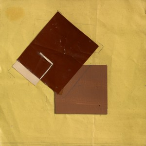 Eileen Gray, Untitled, 1920, Gouache, pencil & collage on paper, 17.3 x 17 cms (63⁄4 x 63⁄4 in)