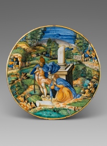Collections: Fontana Workshop Noli Mi Tangere ,c.1560 Maiolica, 43cm diameter. Courtesy of Bazaart Ltd
