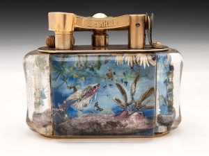 Aquarium table cigarette lighter by Alfred Dunhill, C 1950. Hampton Antiques