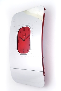 Fuselage Clock (Red)