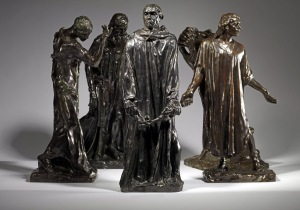 ''The Burghers of Calais' by Auguste Rodin, bronze, cast by Alexis Rudier. Courtesy of Sladmore Gallery