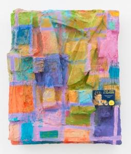 Rachel Harrison, Flan Chino El Mandarin, 2014, Mixed media, 64.1 x 54.6 x 15.2 cm. Courtesy of the artist and Galerie Meyer Kainer, Vienna.
