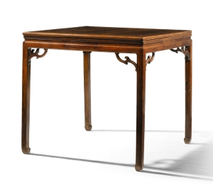 Sotheby's Classical Chinese Furniture from a European Private Collection London | 11 Nov 2015 LOT 12 A HUANGHUALI SQUARE GAMES TABLE, QIZHUO QING DYNASTY, 18TH CENTURY ESTIMATE 30,000-50,000 GBP www.sothebys.com