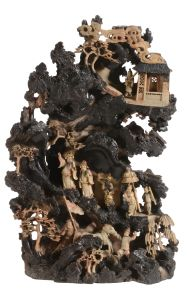 Dreweatts Chinese Ceramics and Asian Works of Art Sale, Monday 16th November 2015 A fine Chinese soapstone group from Qing Dynasty presumably depicting a scene from the Han dynasty. Estimated at £10,000-15,000