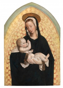 Defendente Ferrari, The Virgin Suckling the Child, c. 1530, Oil on walnut wood panel, 85×58cm. Courtesy of Sarti Gallery.