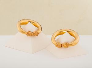 Pair of Gold Lion-Head Bracelets. Credit Kallos Gallery and Steve Wakeham