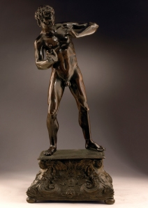 Florence, c. 1500 Marsyas Bronze, rich, brown patina with traces of lacquer 30.5 cm Courtesy of Tomasso Brothers Fine Art, PAD London 2015