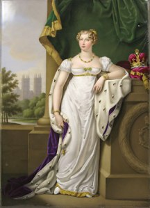 A Lefebvre Paris Portrait Plaque of Princess Charlotte c. 1818