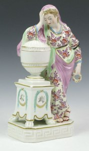 A Derby Figure of Andromache Weeping over the Ashes of Hector c. 1780-85