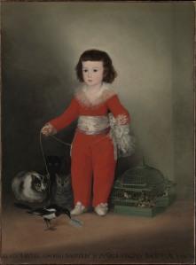 Francisco de Goya Manuel Osorio Manrique de Zuñiga 1788 Oil on canvas 127 x 101.6 cm Lent by The Metropolitan Museum of Art, The Jules Bache Collection, 1949 (49.7.41) © The Metropolitan Museum of Art, New York