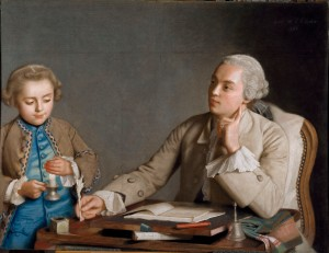 Jean-Etienne Liotard, L'Ecriture, 1752 Pastel on six sheets of blue paper, 81 x 107 cm Kunsthistorisches Museum, Vienna Photo (c) SchloB Schönbrunn Kultur- und Betriebsges.m.b.H. Photography: Edgar Knaack