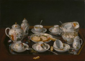 Jean-Etienne Liotard, Still-life: Tea Set, c. 1770â??83 Oil on canvas mounted on board, 37.5 x 51.4 cm The J. Paul Getty Museum, Los Angeles, inv. 84.PA.57 Photo The J. Paul Getty Museum, Los Angeles