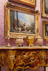 Alan Kingsbury RWA The Charms of Life oil on canvas 60 x 40 ins (152 x 102 cms) Photography by Simon Cook