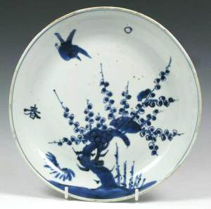 A Chinese Ko-sometsuke Dish for the Japanese Market Tianqui, c. 1621-7