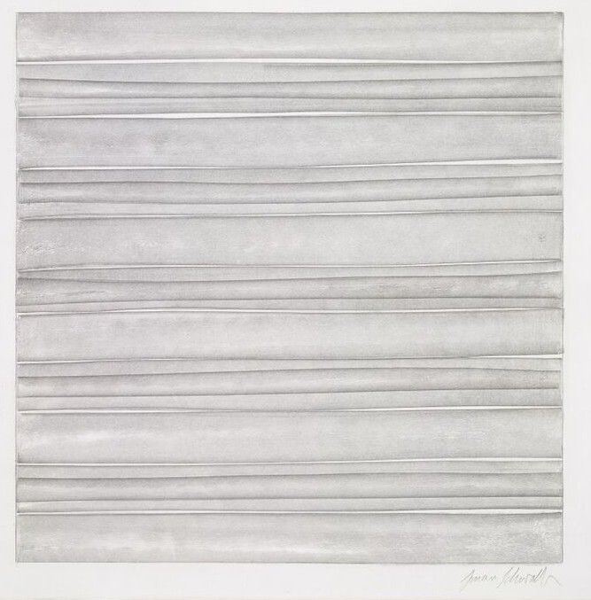 Susan Schwalb, Strata no. 407, 2005, silverpoint, 229 x 227mm. © Reproduced by permission of the artist