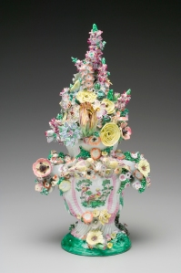 Longton Hall Covered Potpourri Vase, circa 1754-1757