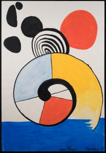 Alexander Calder 1898 - 1976 Untitled, 1967 Signed, dated and inscribed lower right Gouache and ink on paper 43 1/8 x 29 1/2 in, 109.5 x 75 cm