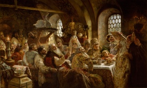 Konstantin Makovsky A Boyar Wedding Feast 1883