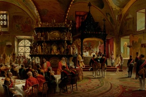 Konstantin Makovsky Imperial Dinner Table in the Palace of Facets 1883