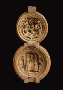 Rosary bead or prayer-nut showing scenes of St Hubert The Waddesdon Bequest. © The Trustees of the British Museum