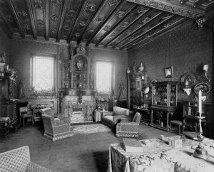 The Smoking Room in Baron Ferdinand de Rothschild's The Red Book, 1897; Waddesdon, The Rothschild Collection (The National Trust) Gift of Dorothy de Rothschild, 1971; acc. no. 54 © The National Trust, Waddesdon Manor