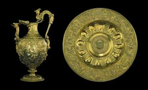 The Aspremont Lynden Ewer and Basin, silver-gilt, 1545-50. The Waddesdon Bequest. © The Trustees of the British Museum