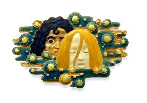 'Apparitions', a gold and enamel brooch by Vever, c 1900