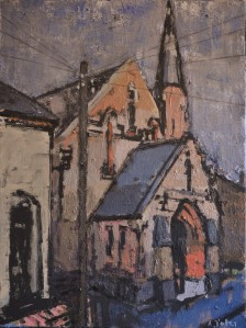 Anthony Yates RBA Former Methodist Church, South Street, Harborne, Birmingham (2015) Oil 75 x 57 cm