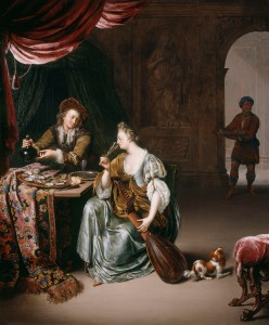 Willem van Mieris, 'The Neglected Lute', c.1708 Royal Collection Trust/ (C) Her Majesty Queen Elizabeth II 2015
