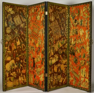 Four-leaf screen, pasted with satirical prints c.1806 Royal Collection Trust/ (C) Her Majesty Queen Elizabeth II 2015