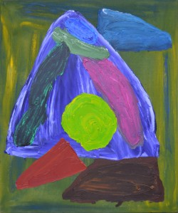 JOHN HOYLAND (1934 - 2011) Hidin' Signed, titled & dated 1983 on reverse Acrylic on canvas 34 x 28 in / 86 x 71 cm Waterhouse and Dodd