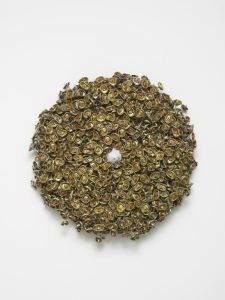 Moffat Takadiwa, Head Spin 4, 2015, Found spray tops, Approx. diameter 60cm, Courtesy the artist and Tyburn Gallery