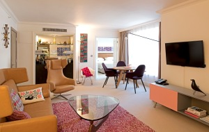 The Saatchi suite furnished by Vitra