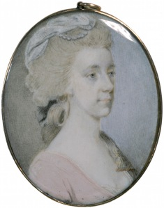 William or Nathaniel Dance, Portrait miniature of Mrs Eliza Soane