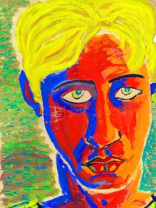 Laurie Lee: The Artist loan exhibition - Laurie Lee, Self Portrait, Gouache, c.1937, 56 x 38cm