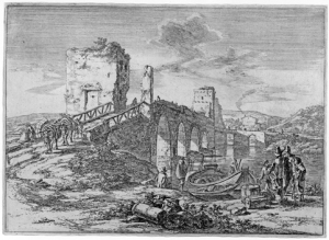 Elizabeth Harvey Lee Jan Both (c1615/18 - 1652), Ponte Molle, Original etching, early1640s 20 x 27 cm