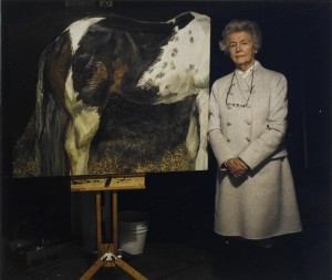 Lot 111 - David Dawson DEBORAH, DOWAGER DUCHESS OF DEVONSHIRE AND 'SKEWBALD MARE', 2004 Estimate 400 — 600 Chromogenic print. Signed, dated and titled 'Lucian's Studio' in black felt tip pen on the reverse. Mounted and framed. sheet: 20.3 x 25.3 cm, 8 x 10 in.; image: 19 x 21.5 cm, 7 ½ x 8 ½ in