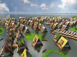 Design for water communities, Lagos, Nigeria by NLÉ (c) NLÉ