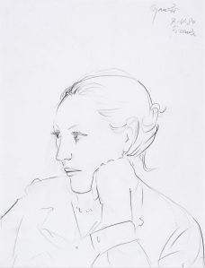 Giacomo Manzu Portrait of Aurora 1980 Pencil on paper Courtesy Galleria d'Arte Maggorie Bologna