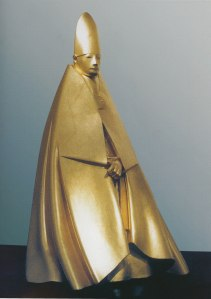 Large seated cardinal 1983 Gilded wood, 205cm Courtesy: Galleria d'Arte Maggiore, Bologna