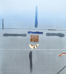 GREY AUSTRALIA, pastel and collage, 1983, H 41 x W 37 cm (H 16 1⁄8 x W 14 5⁄8 in)