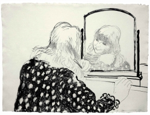 John Iddon Fine Art David Hockney, Anne Combing Her Hair, Lithograph ed. of 75