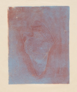 Naum Gabo Opus Eight, date unknown Monoprint from block of Florida Boxwood. Paper 30.2 x 23.8 cm Courtesy Nina and Graham Williams and Alan Cristea Gallery, London