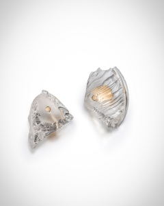 Ron Arad Rocks Earrings (1), with posts, 2015 18k gold and silicon left: 2.6 x 3.3 cm right: 3.0 x 4.0 cm unique