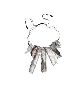 Ron Arad Rocks Necklace (9), 2016 silk and silicon 32 x 13 x 4 cm.