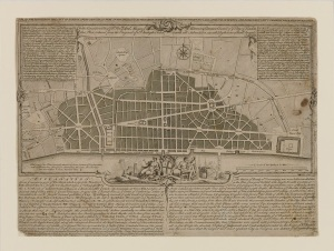 Sir Christopher Wren's Plan for Rebuilding the City of London after the Great Fire of 1666 (c) RIBA Collections