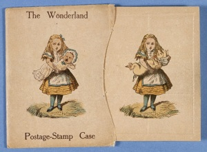 The Wonderland postage stamp case designed by Lewis Carroll (1889-1890) (c) The British Library Board